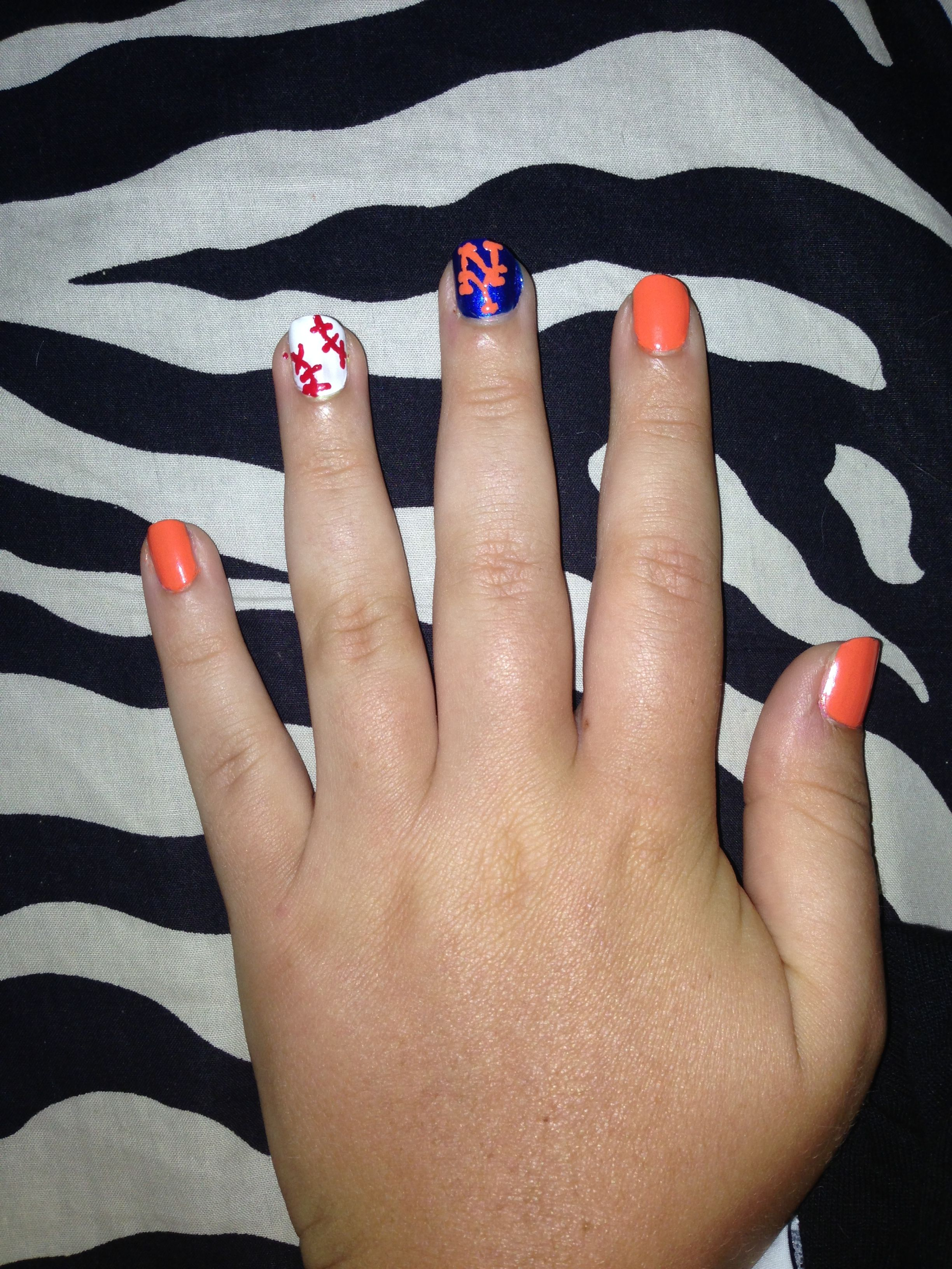 NY Mets nail art #mets #baseball | Cute Stuff | Pinterest | Sports ...