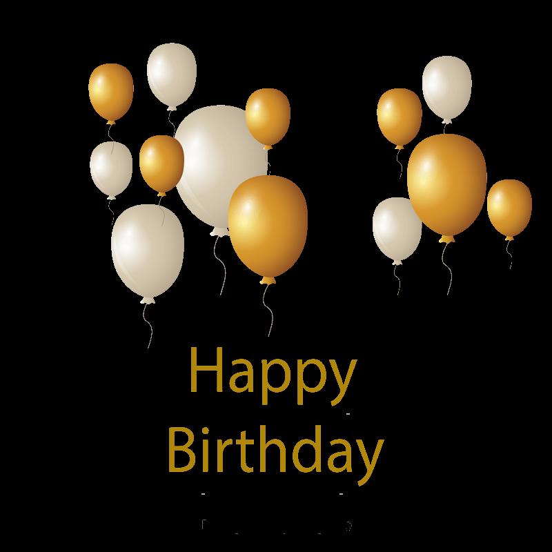 مرسومة باليد ناقلات بالون الذهب مخطط متجه مرسومة باليد ذهب Png وملف Psd للتحميل مجانا Blue Flower Painting Happy Birthday Design Gold Balloons