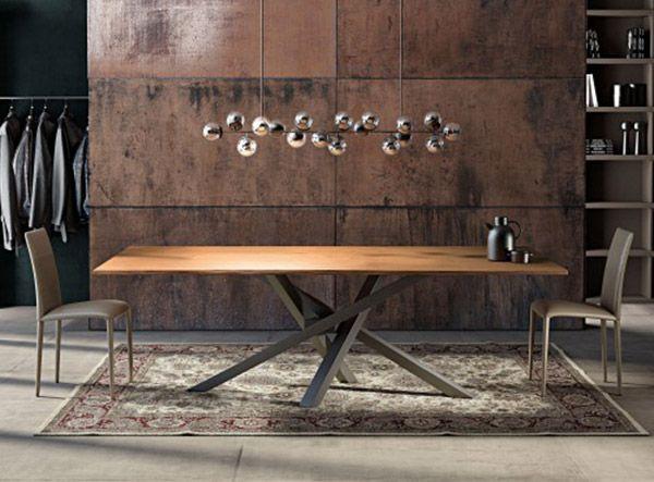 Tavolo Design In Legno : Tavolo design in legno vetro shangai rustic boards