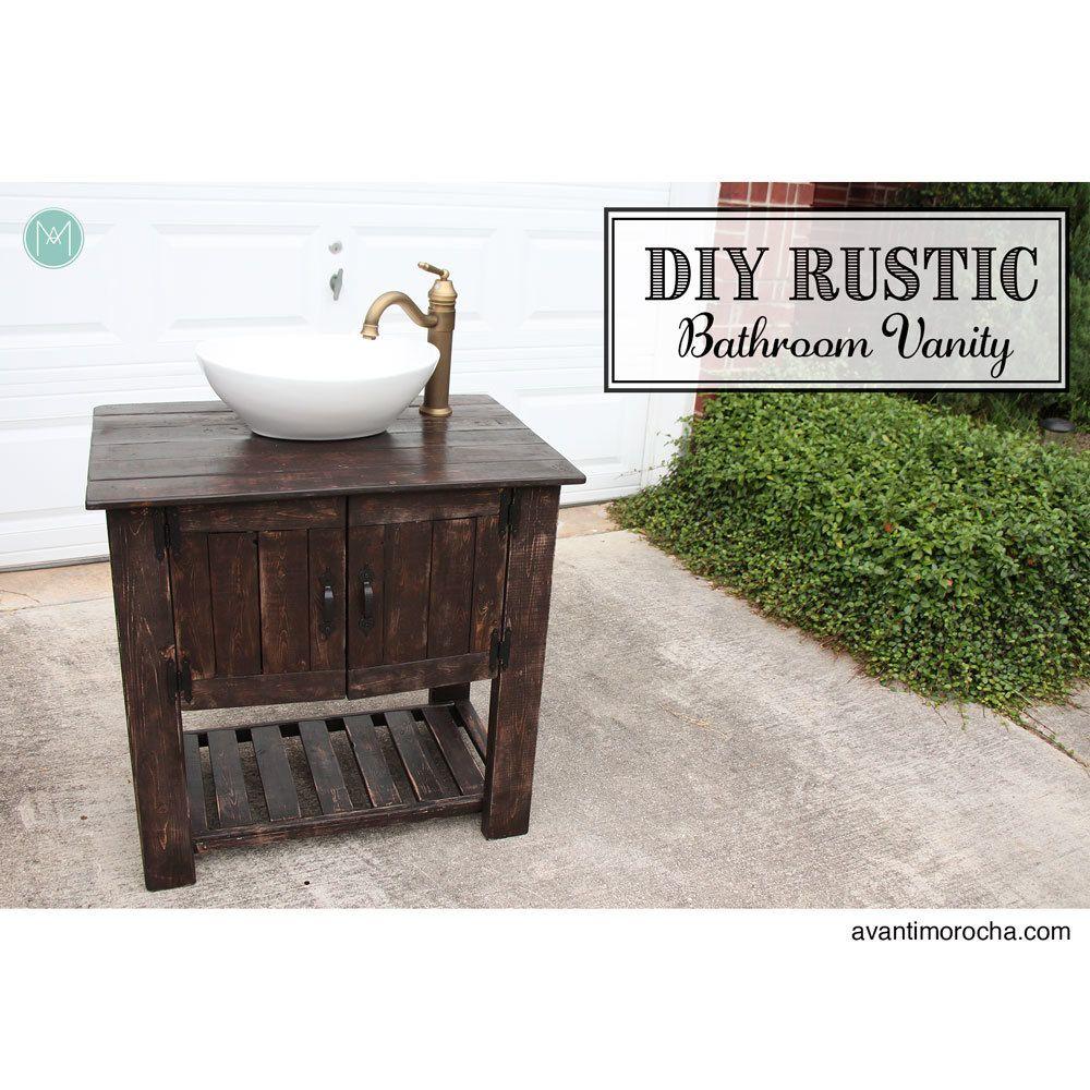 diy rustic bathroom vanity | ana white | rustic bathroom, rustic bathroom vanities