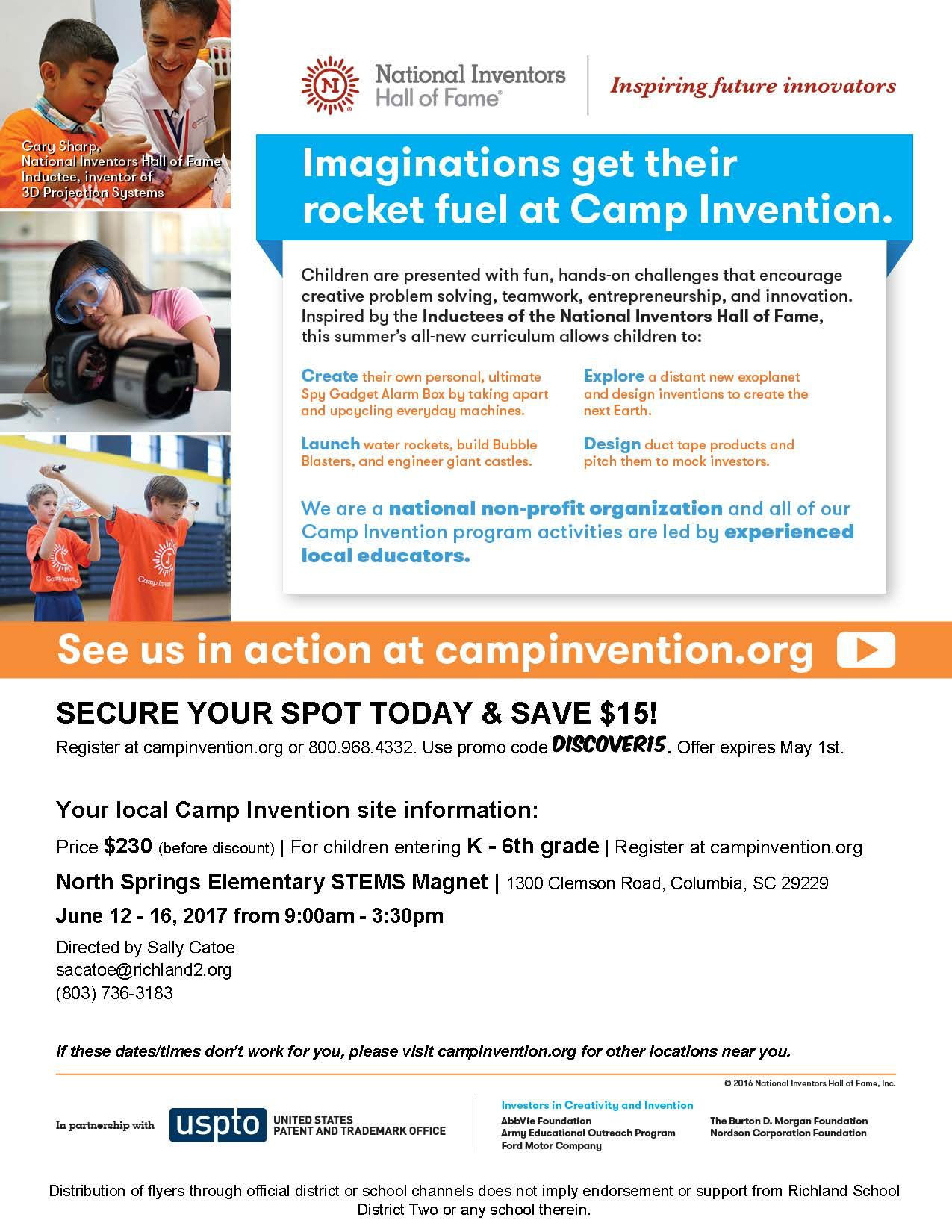Camp Invention At North Springs Elementary School