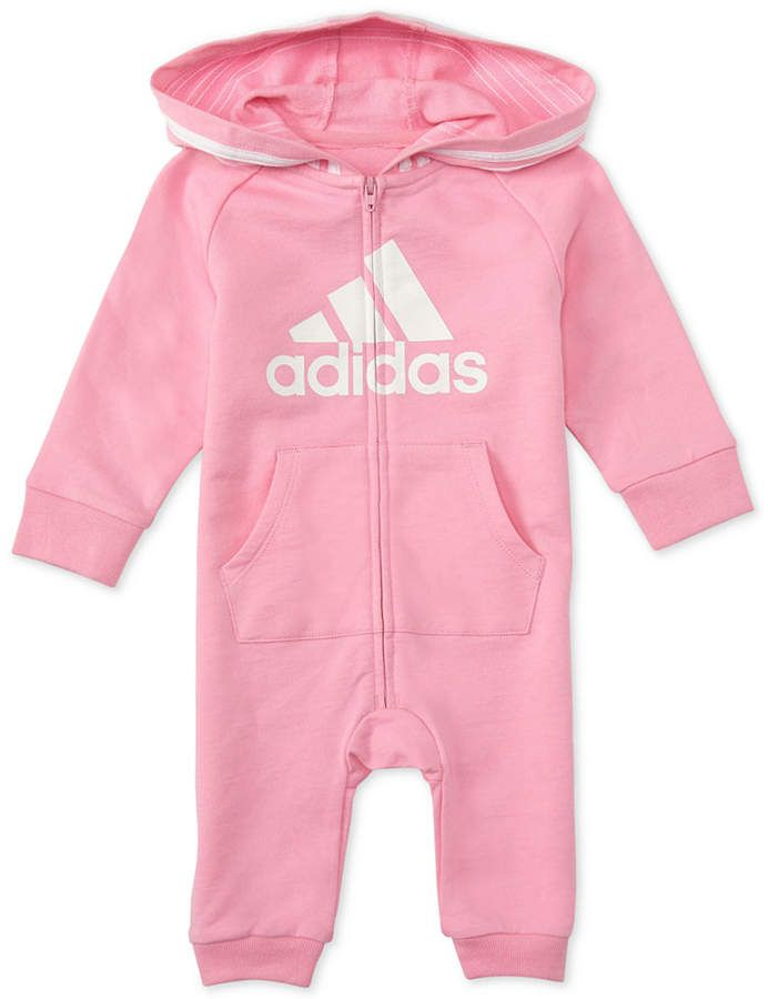 f783d91e9 adidas Baby Girls Hooded Coverall | Products | Adidas baby, Unisex ...