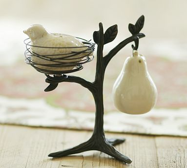 Partridge In A Pear Tree Salt & Pepper Shakers $25  great price for sweet salt & pepper