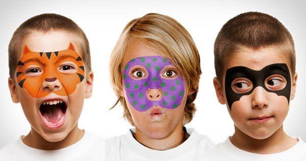 Bambini Simpatici ~ Face paint & stencils set. per carnevale potete disegnare delle