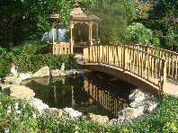 Backyard Ponds, Koi Ponds, Retention Pond, Garden Bridge, Pond Design,  Water Pond, Pond Ideas, Japanese Gardens, Dry Creek Bed