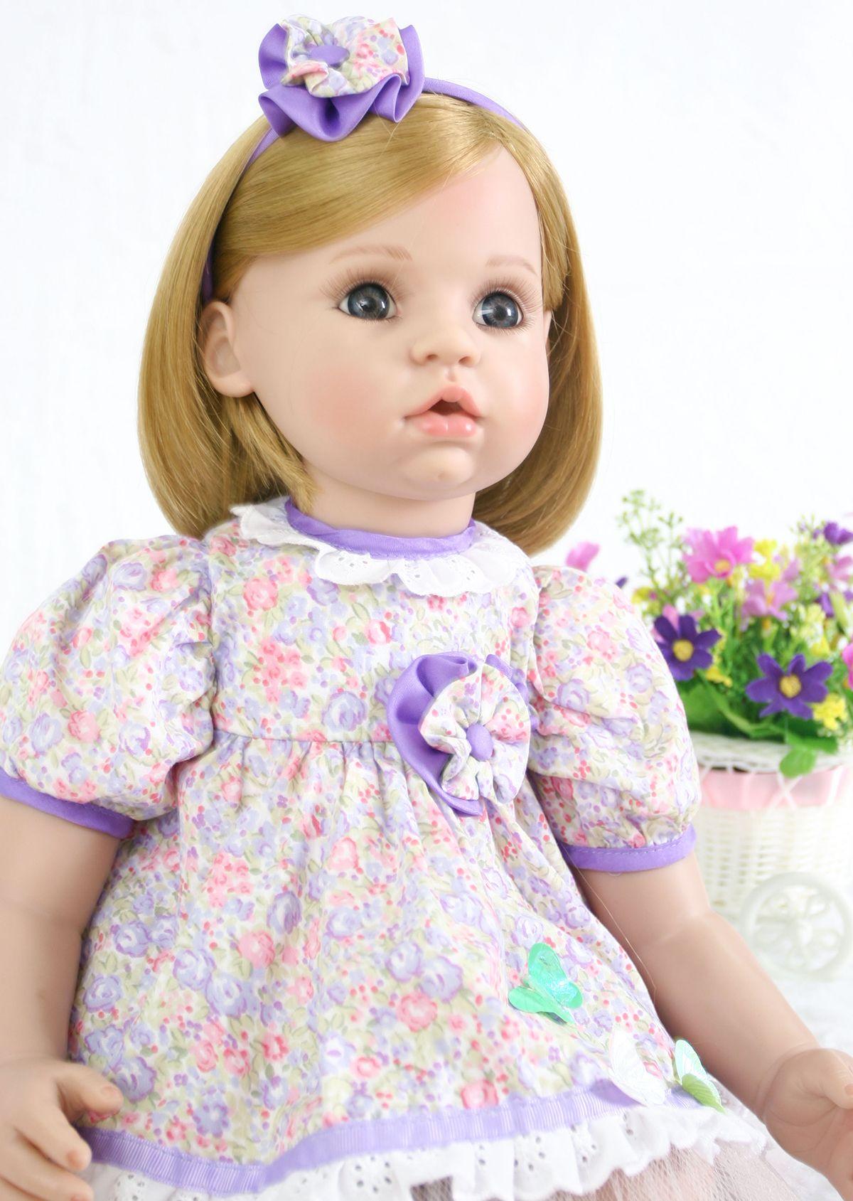 "Soft Silicone Reborn Baby Dolls Real Life Cute Princess Girl Reborn Toddler 24/"""