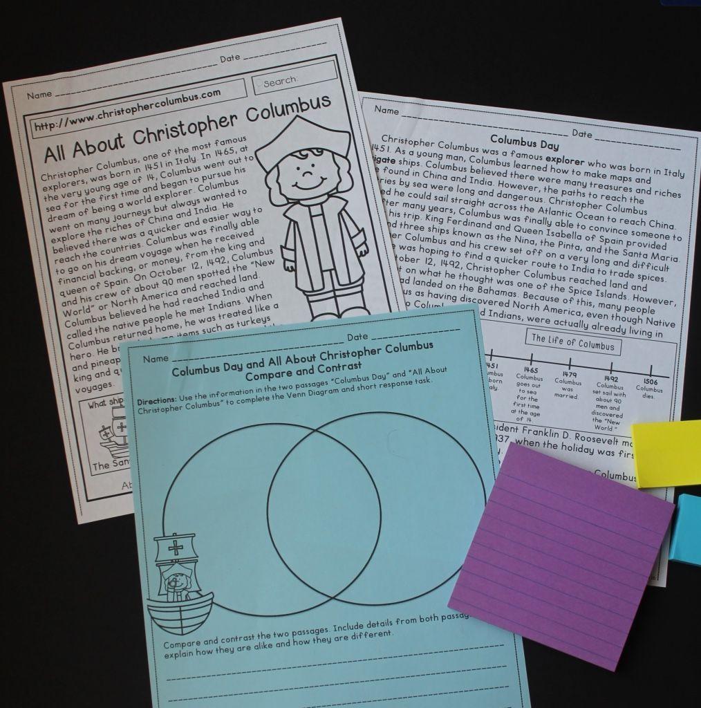 Columbus Day Reading Comprehension Passages And Close Reading Activities Includ Close Reading Activities Reading Comprehension Reading Comprehension Passages [ 1024 x 1014 Pixel ]