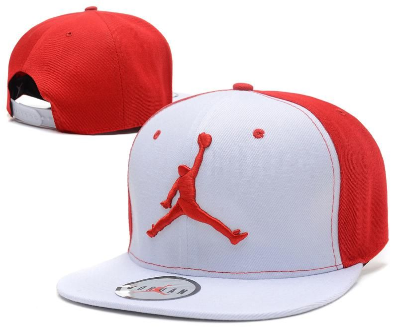 88ff206fa4f Mens Nike Air Jordan The Red Jumpman 3D Embroidery Logo Sports Fashion Snapback  Hat - White   Red