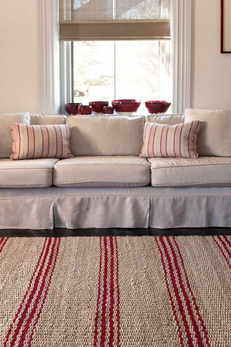 red  tan striped jute rugs  dash  albert jute ticking crimson  - red  tan striped jute rugs  dash  albert jute ticking crimson http
