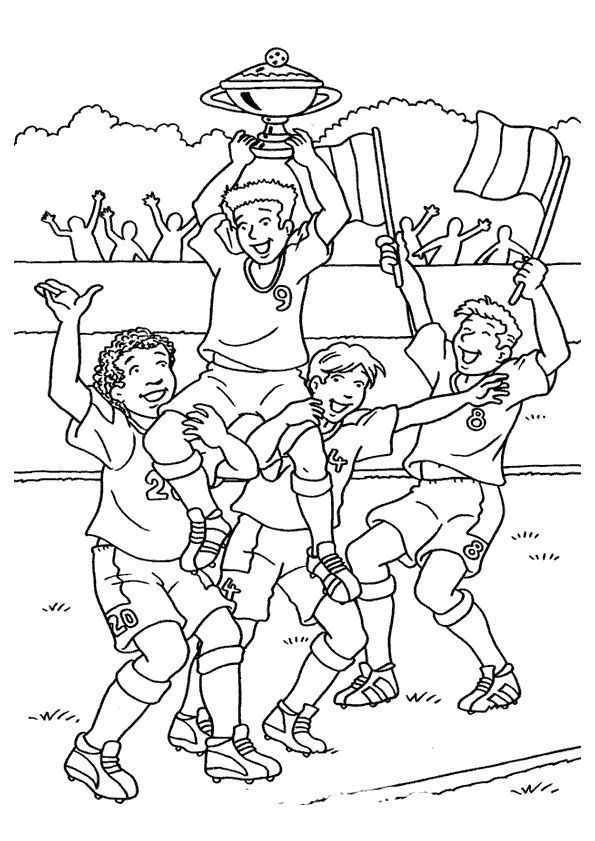 Sports coloring pages for adults ~ coloring sports - Kleurplaten, Sport en Voetbal