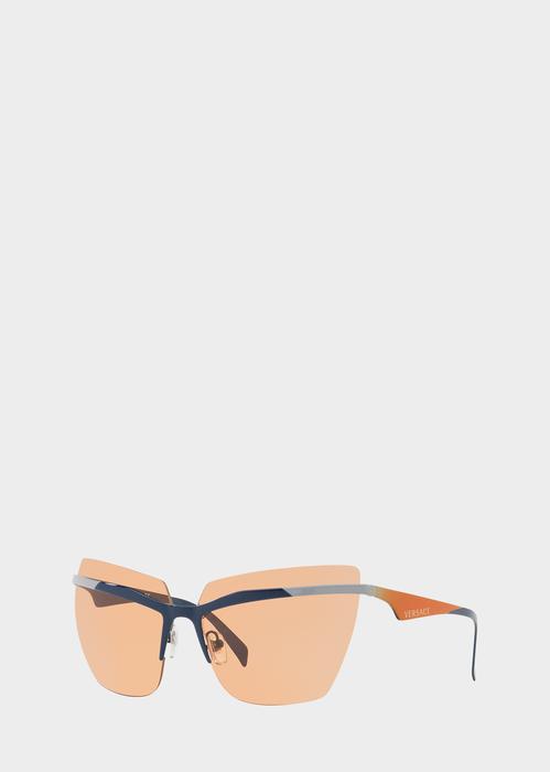 c9dd9b68e47 Versace Orange  VFierce Visor Sunglasses for Women