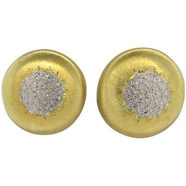 Buccellati Geminato 18k Two Color Gold Earrings