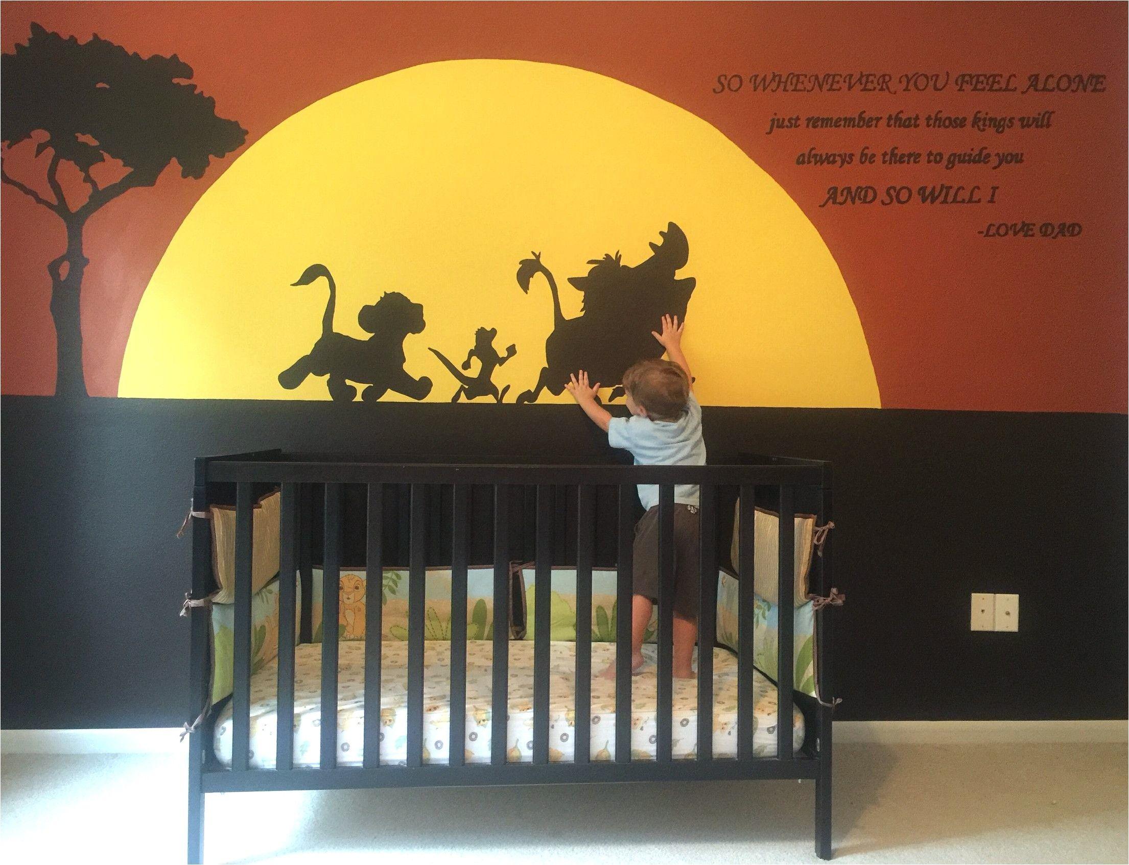 Deco Chambre Bebe Theme Le Roi Lion en 12  Chambre bébé roi