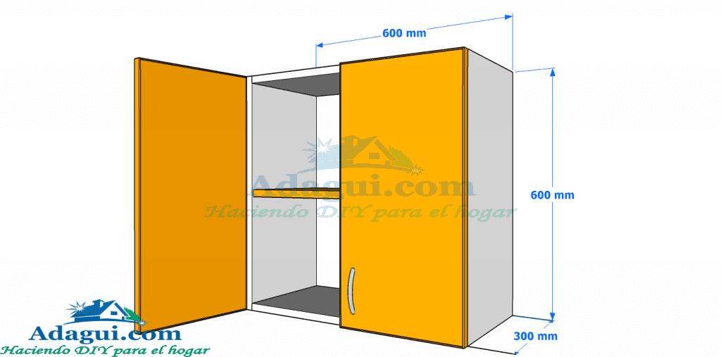 Planos muebles cocina Como hacer muebles de cocina melamina madera ...