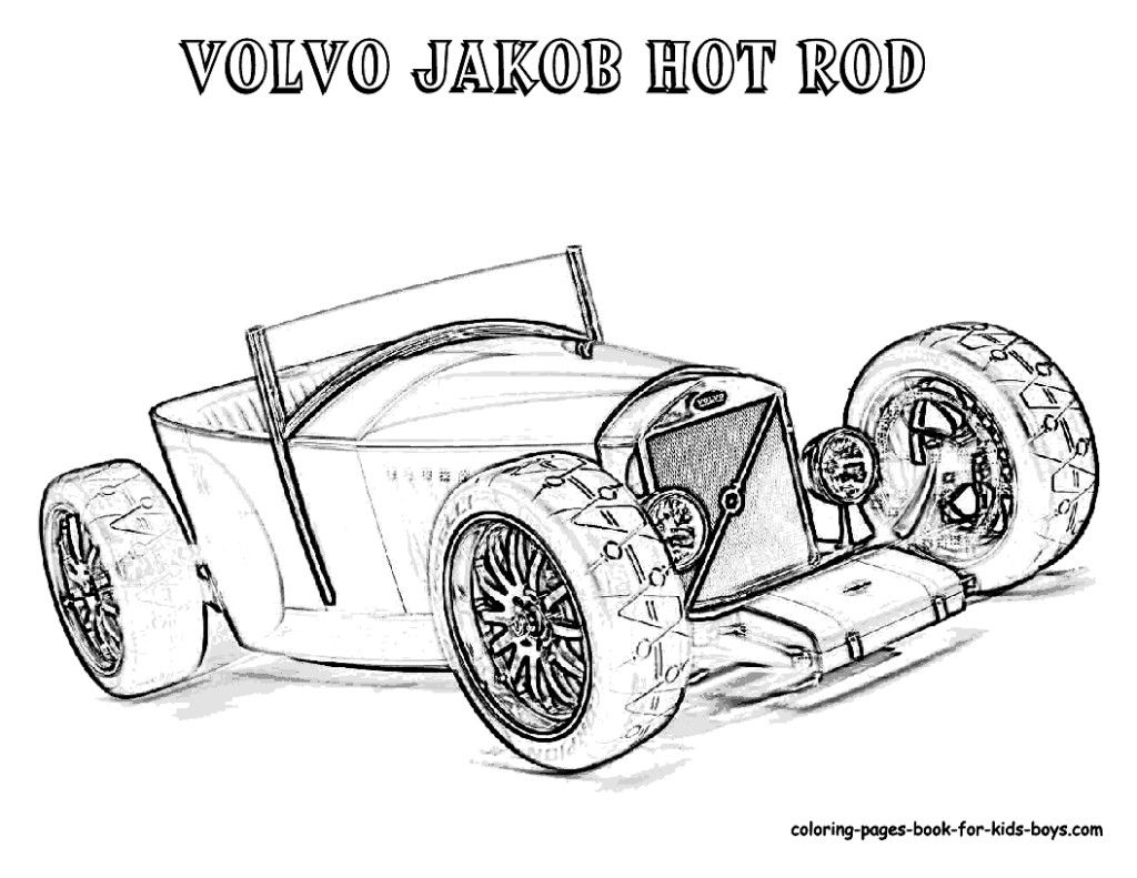 Coloring Pages American Muscle Cars Free Classic Hotrod The Big