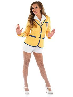 Adult Hi De Hi Female Yellow Coat Costume - FS3681 - Fancy Dress Ball