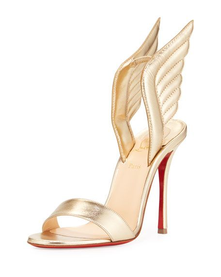 4e12acd66b3 Samotresse Wings Red Sole Sandal Gold | Apparel and Accessories ...