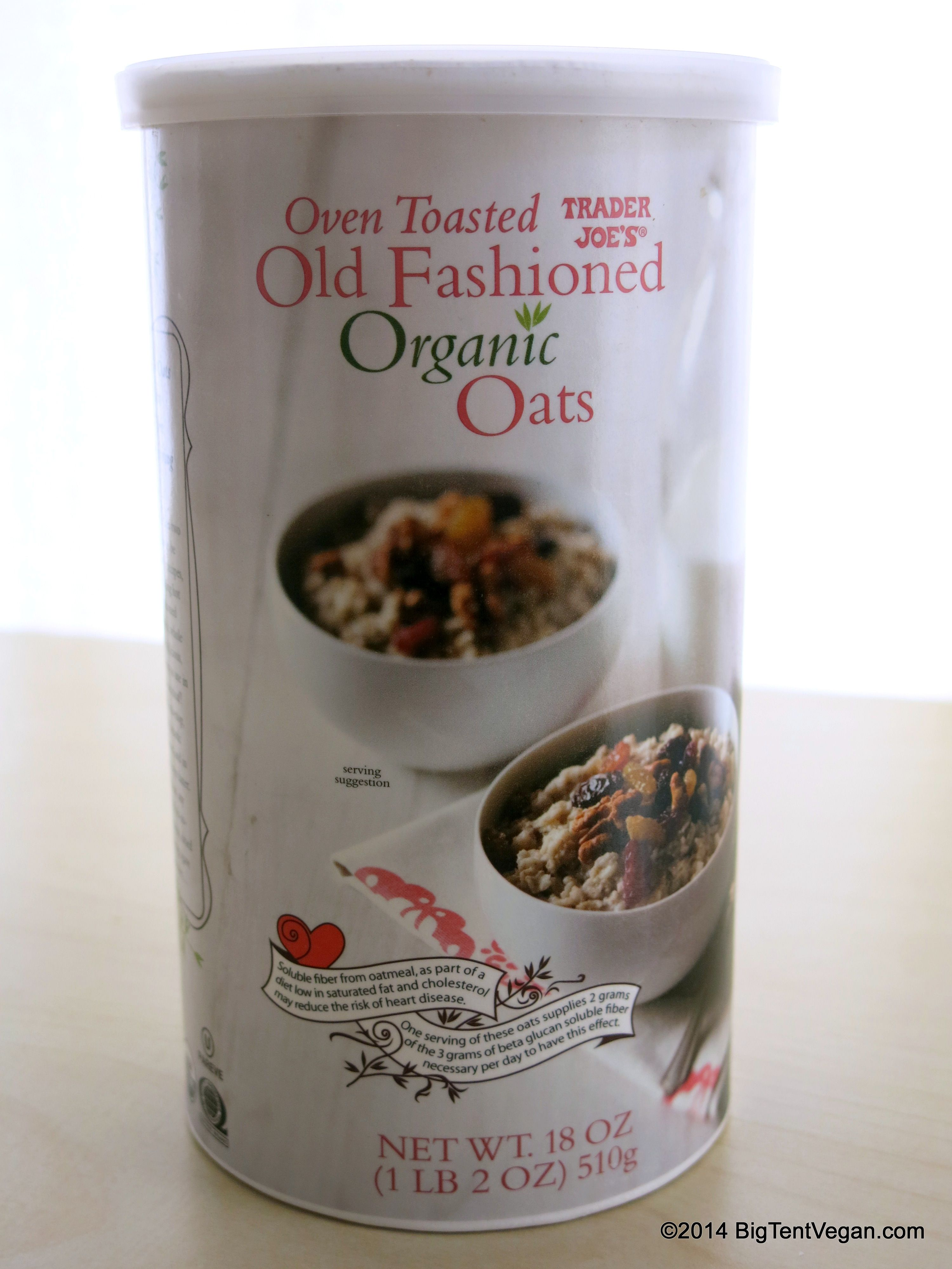 Oven Toasted Old Fashioned Organic Oats | Vegan at Trader Joe\'s ...