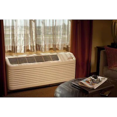 Amana 15000 Btu 750 Sq Ft 230 Volt Ptac Air Conditioner With Heater Lowes Com Air Conditioner With Heater Heating And Cooling Units Wall Air Conditioners
