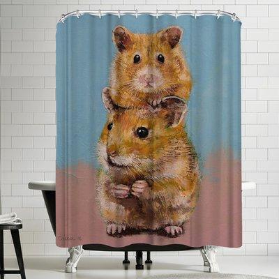 East Urban Home Michael Creese Hamsters Single Shower Curtain