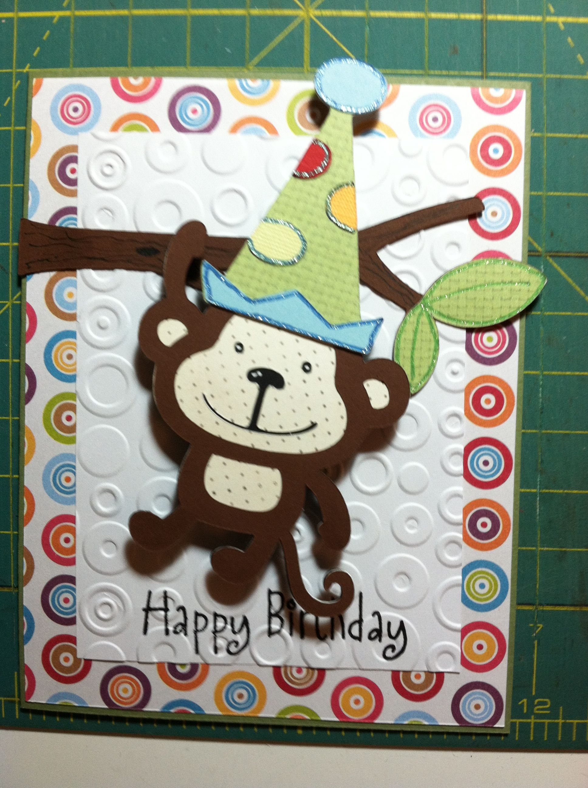 monkey birthday card  cricut birthday cards kids