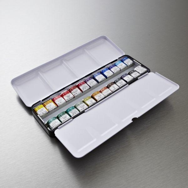 The Winsor Newton Artists Water Colour Lightweight Metal Box 24