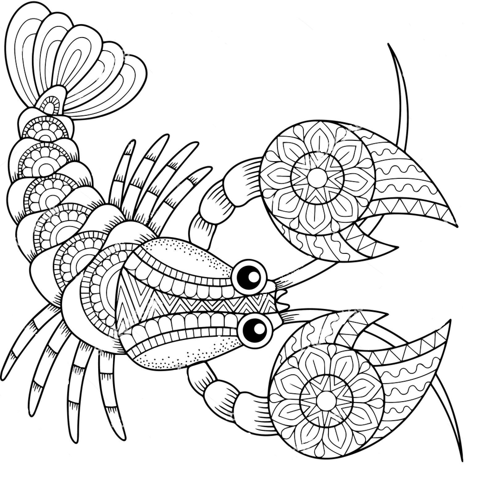 Lobster Designs Coloring Books Coloring Books Animal Coloring Pages