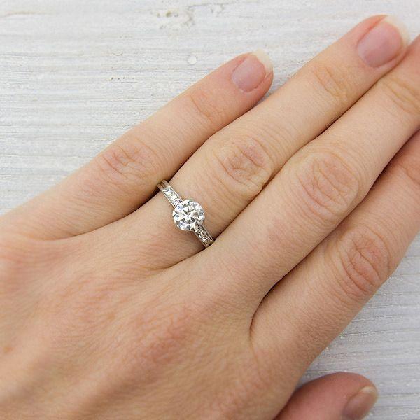 Image of Vintage 79 Carat Tiffany Co Diamond Engagement Ring