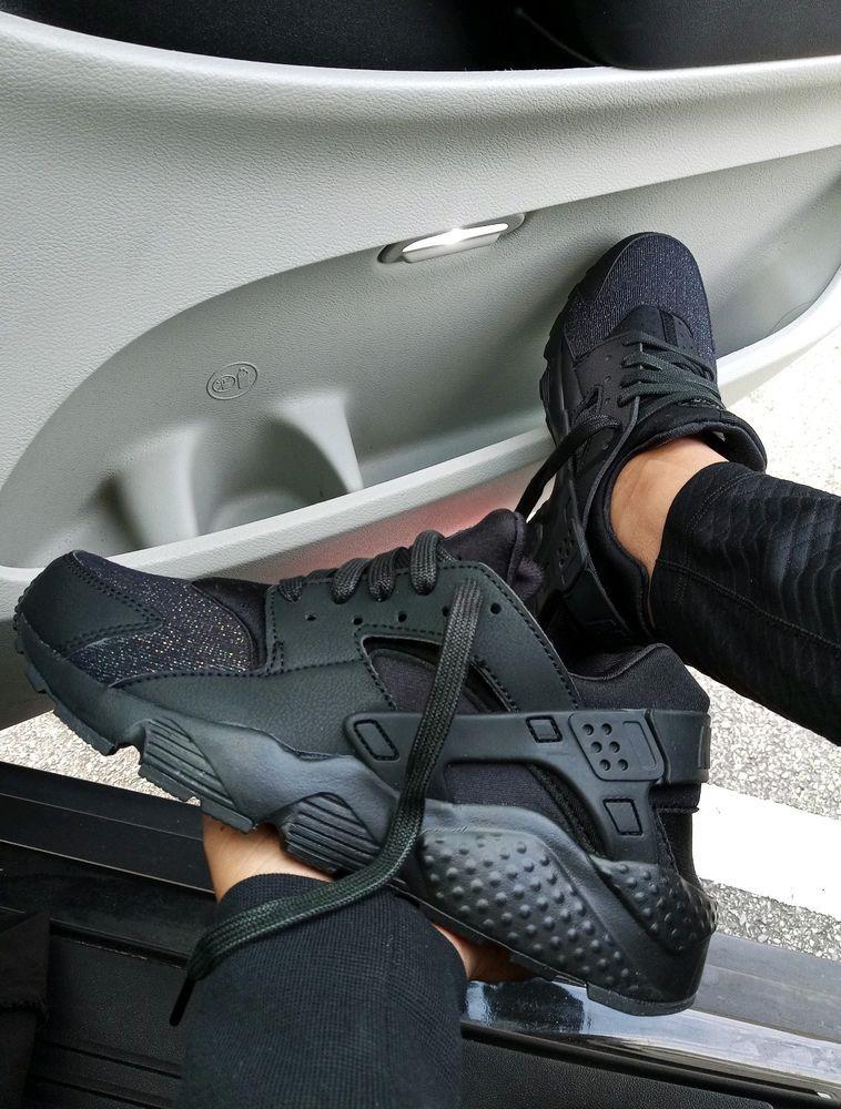 b7dac77d9718 7.5 WOMEN S Nike Air Huarache TRIPLE BLACK RUNNING comfortable CASUAL 6.5Y   fashion  clothing  shoes  accessories  womensshoes  athleticshoes (ebay  link)
