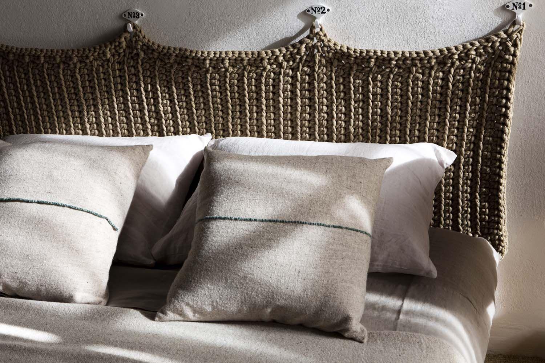 Preciosos cabeceros o respaldos tejidos manualmente que for Tejidos y novedades paredes