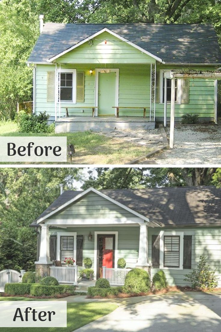 Atlanta Renovations Before After Photos With Images: Home Exterior Makeover, House Makeovers, Exterior Makeover