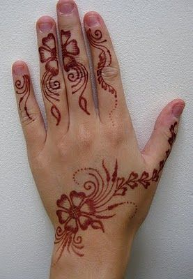 Simple Arabic Mehndi Designs For Hands For Kids