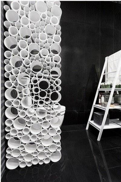 Separador De Ambientes Con Tubos De Carton Howto Decor House Diy Recycled Separador De Ambientes Diseno Moderno De Muebles Disenos De Unas