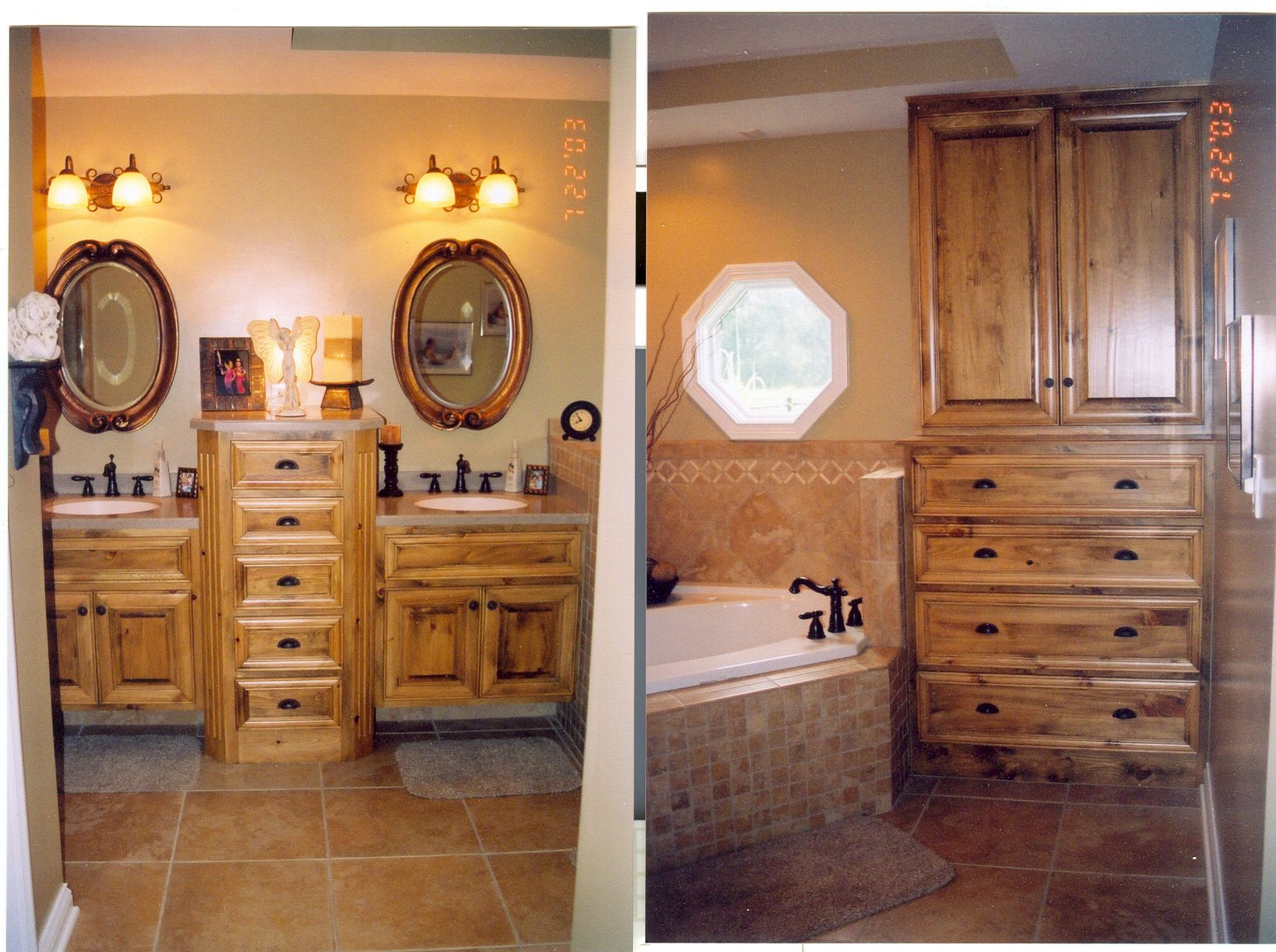 Knotty Pine bath to match master bedroom furniture | Projects By ...
