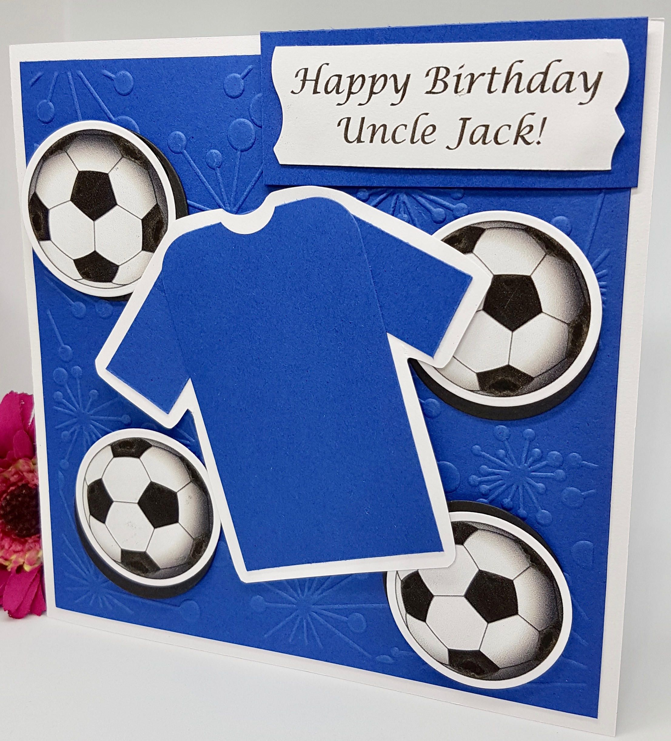 Personalised Sports Birthday Card Football Golf Rugby Handmade