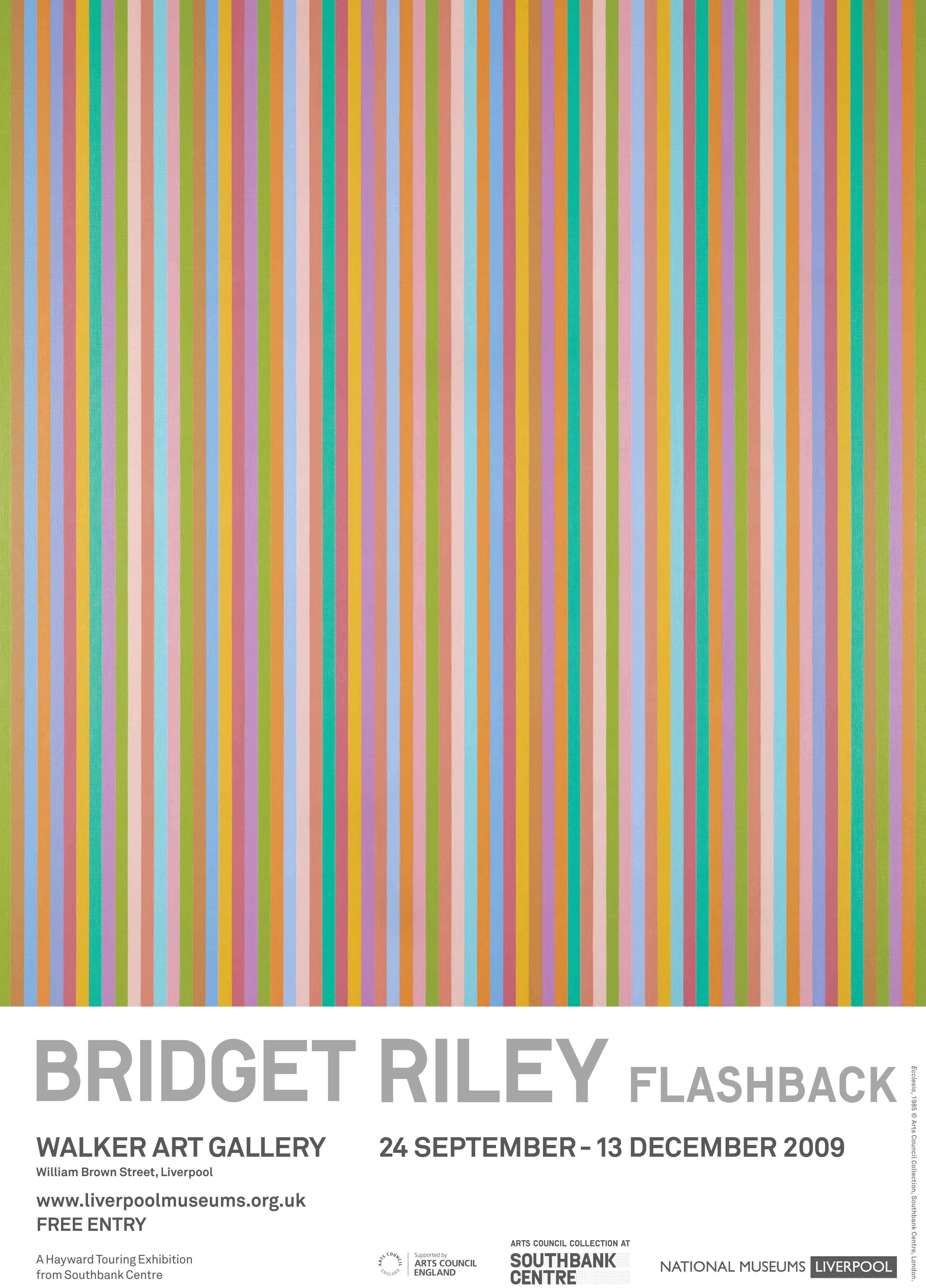 Poster From The Bridget Riley Flashback Exhibition That