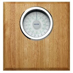 Salter Bathroom Scale Rubberwood