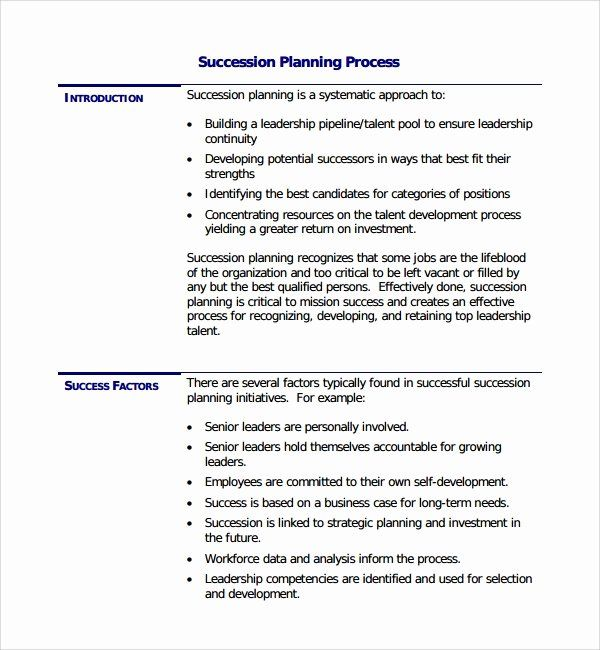 Simple Succession Plan Template Awesome 10 Succession Planning Templates Succession Planning Business Plan Template Free How To Plan