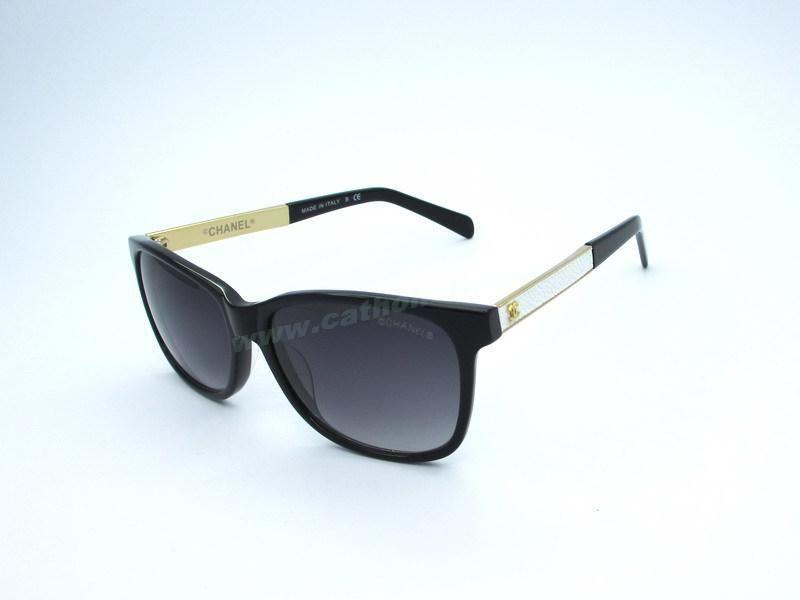 da11af932c Cheap Chanel 3280 Black White Frame Grey Lens Sunglasses Outlet For  Wholesale