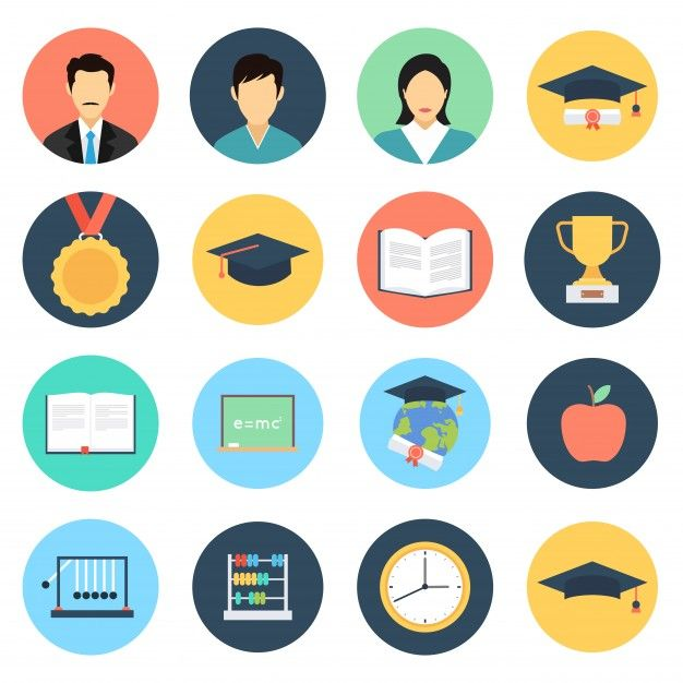 Download Education Icons Set For Free In 2020 Education Icon
