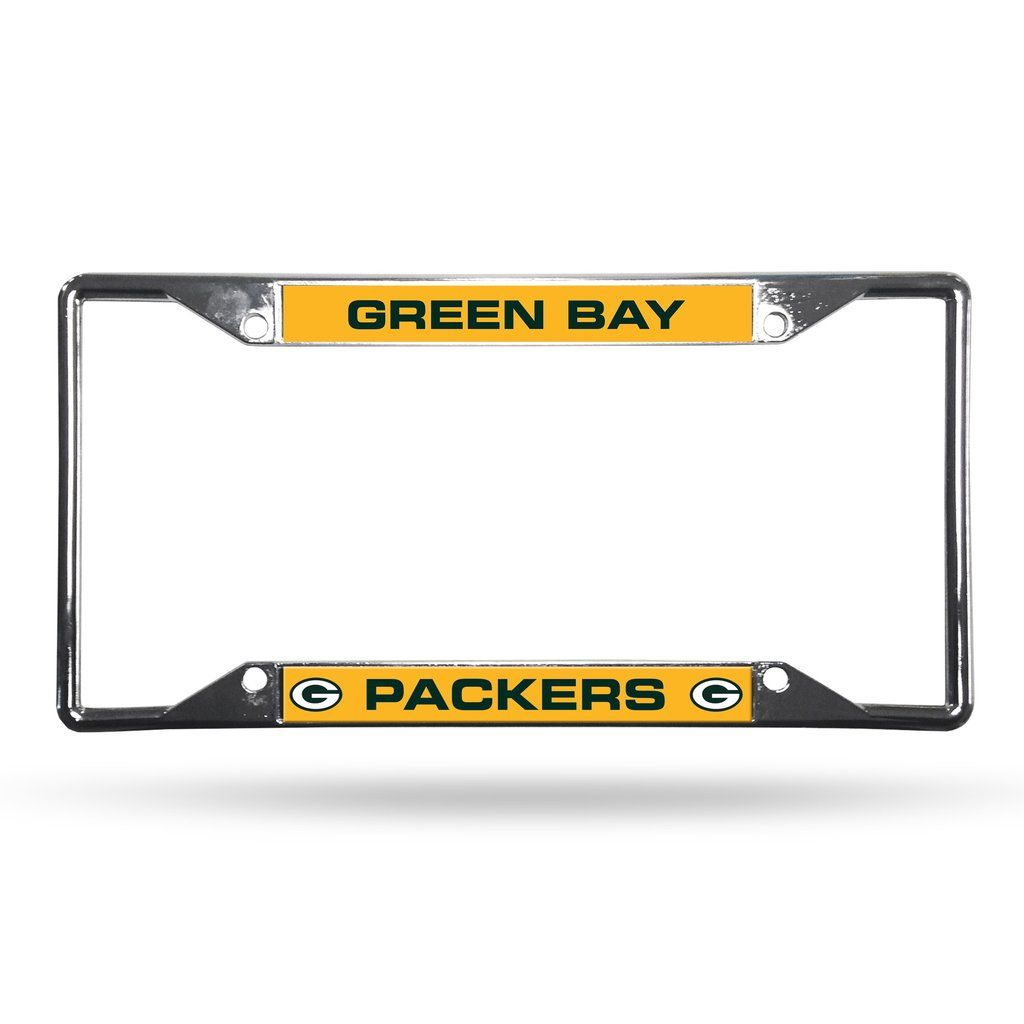 Green Bay Packers License Plate Frame Chrome EZ View | Packers