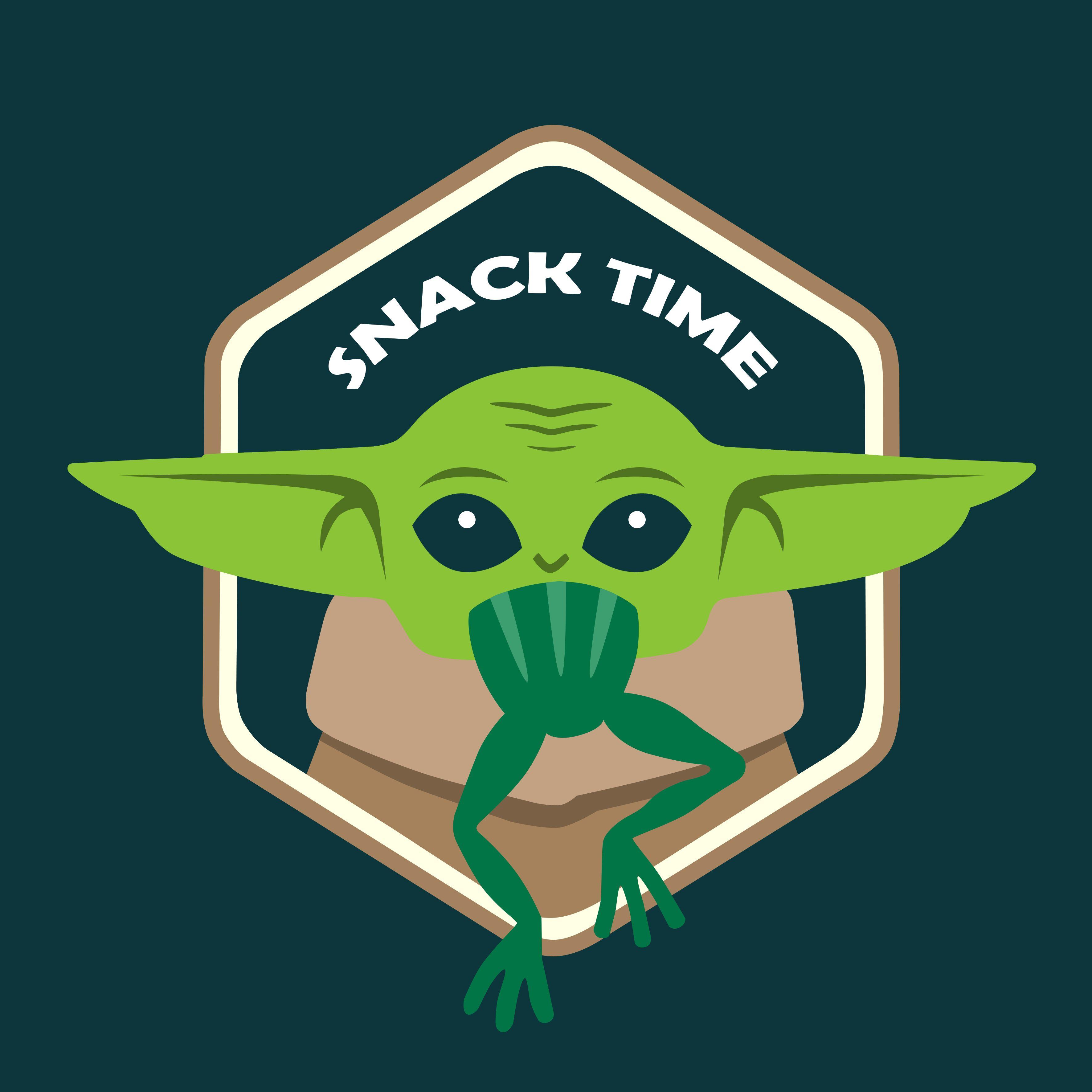 Baby Yoda Snack Time T Shirt Eat Frog Star Wars Fan Art The Mandalorian Yoda Minimalism Star Wars Fan Art Star Wars Fans Star Wars