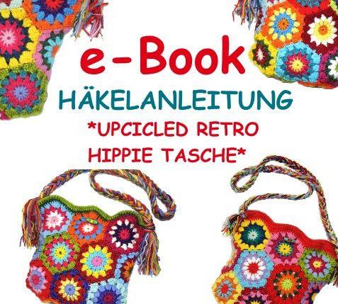 Häkelanleitung+*+upcicled+HIPPIE+Tasche+*+e-Book+von+CI-Woman+auf+DaWanda.com