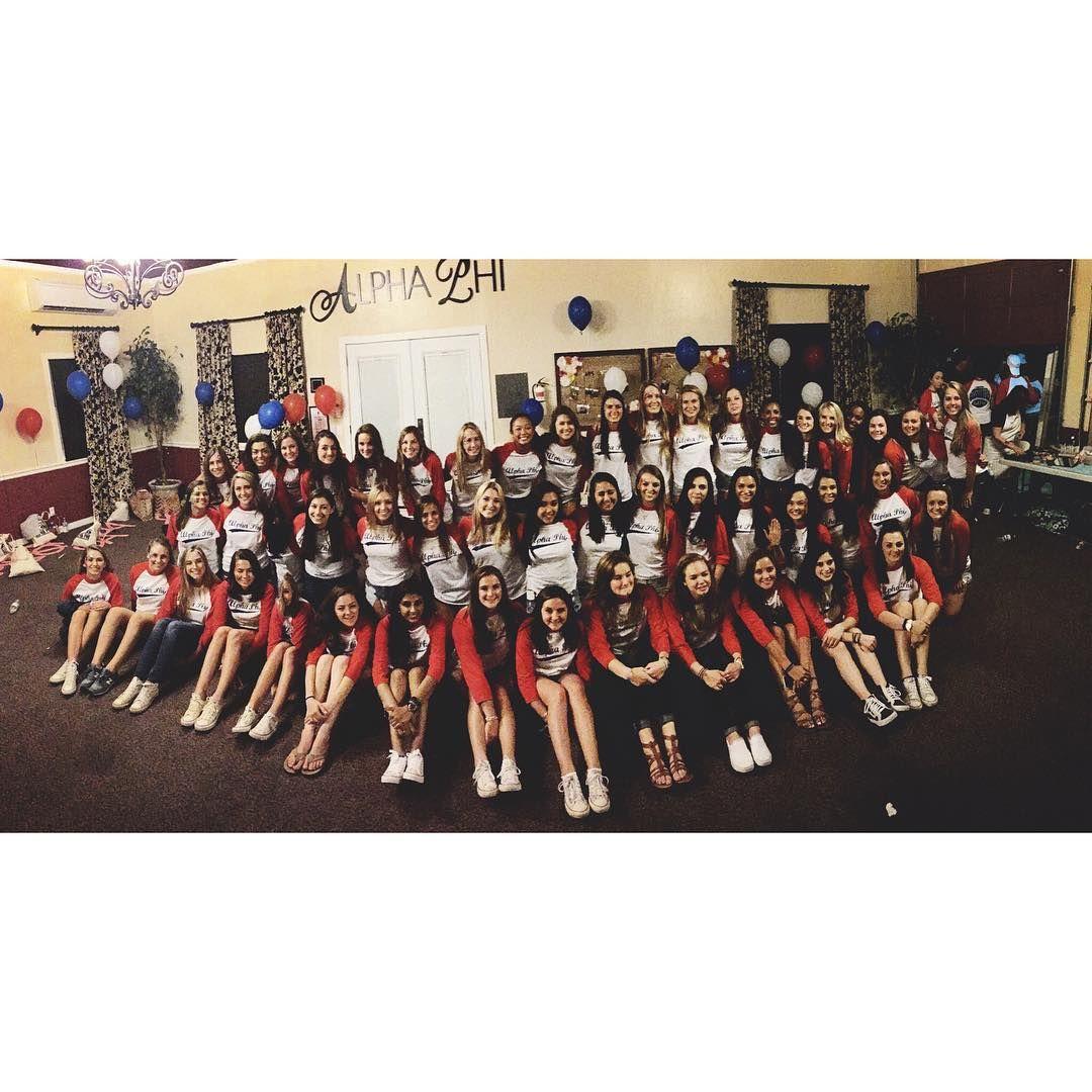 Alpha Phi SCU AOE to our new pledge class of 2015