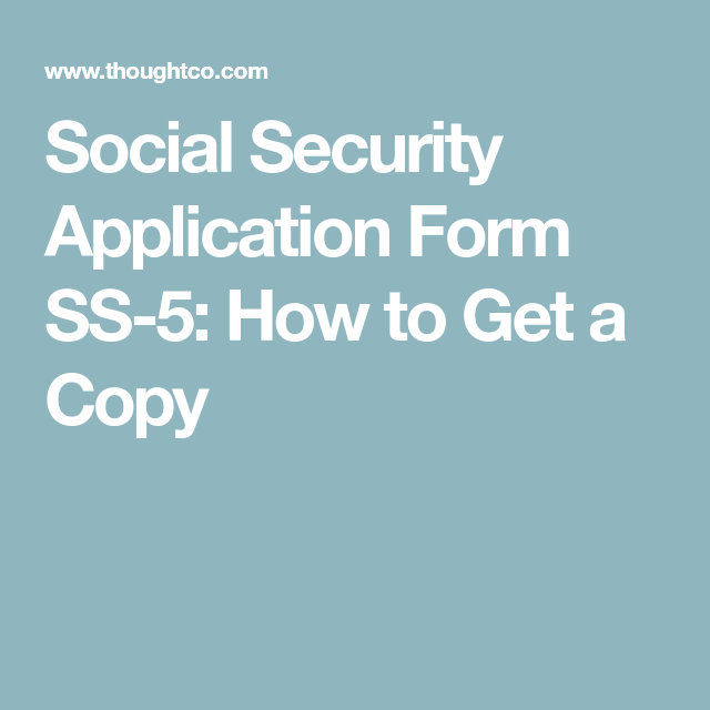 How To Get A Copy Of Your AncestorS Social Security Application