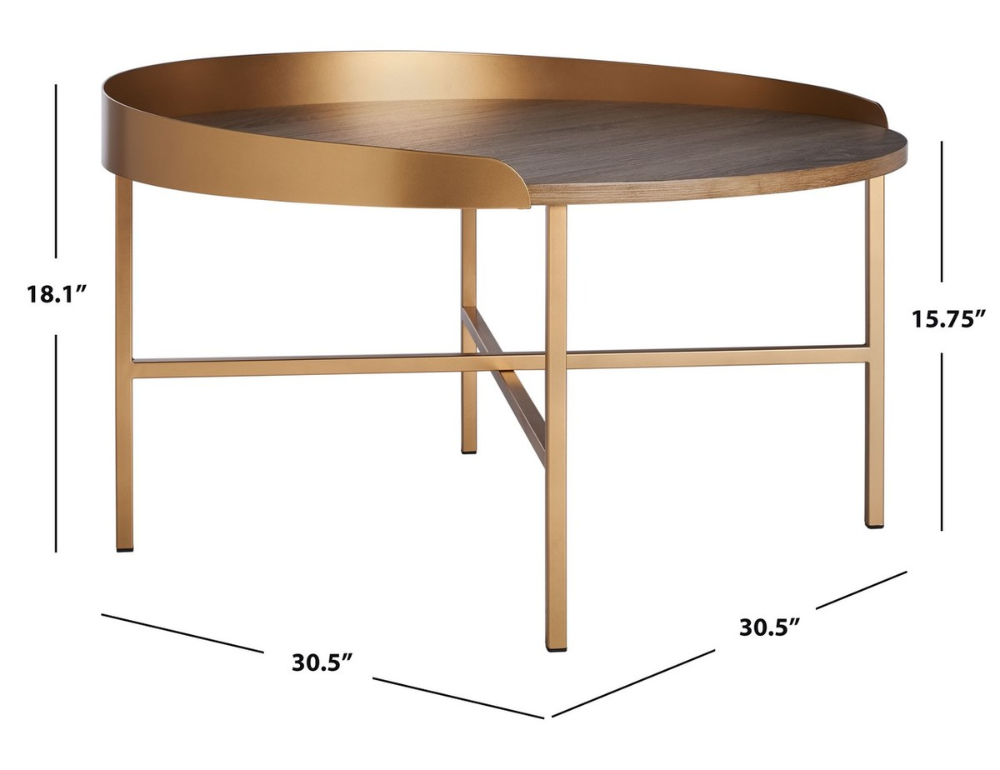 Cof4208a Coffee Tables Furniture By Safavieh Round Gold Coffee Table Gold Coffee Table Coffee Table