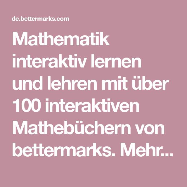 Mathematik interaktiv lernen und lehren mit über 100 interaktiven ...