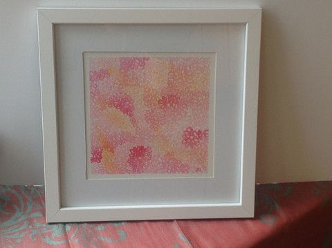 Pink Hydrangea Watercolor Painting 12 X12 Framed White Or Black Tamm S Marketplace Frame Pink Hydrangea