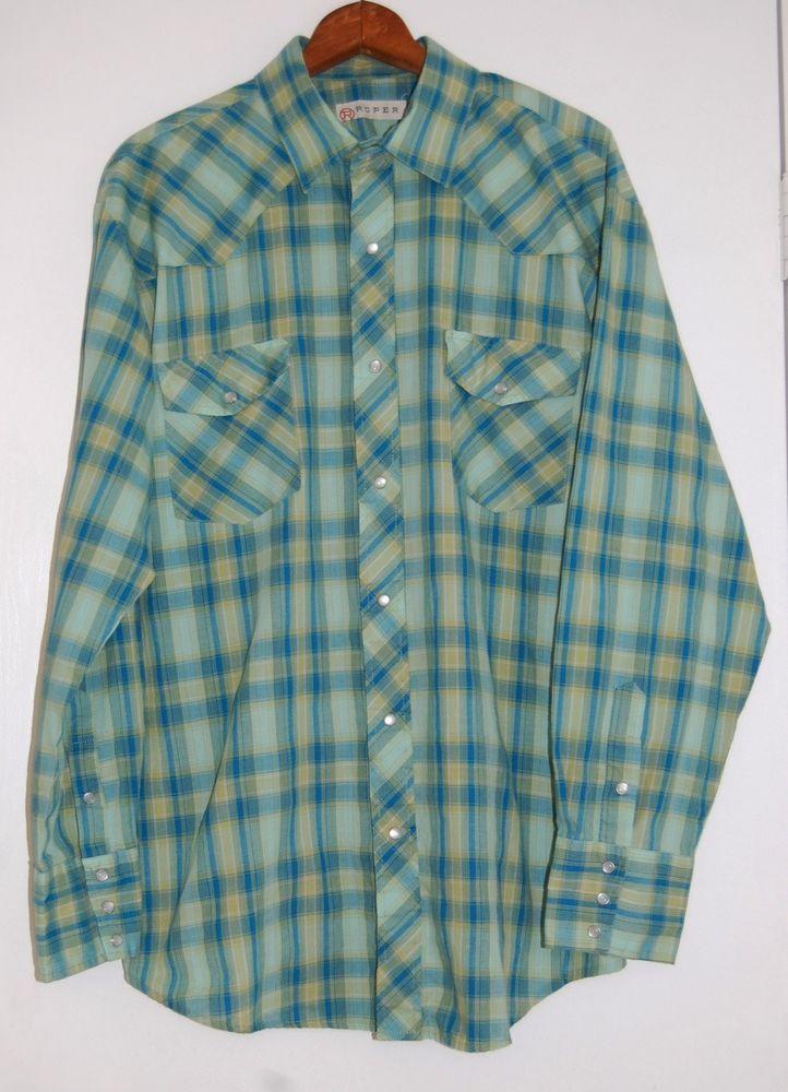 Roper XL Men's Western Shirt Pearl Buttons #Roper #Western #Westernwear