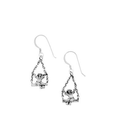 Another great find on #zulily! Sterling Silver Children Swinging Drop Earrings #zulilyfinds